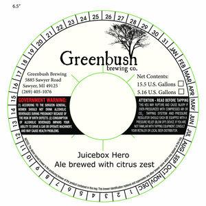 Greenbush Brewing Co. Juicebox Hero Ale