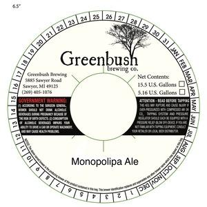 Greenbush Brewing Co. Monopolipa June 2016