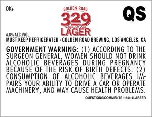 329 Days Of Sun Lager