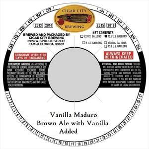 Vanilla Maduro June 2016