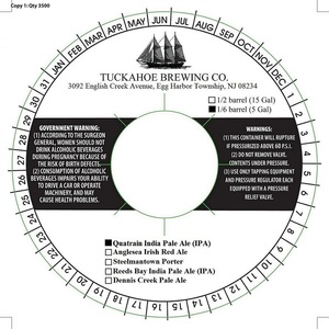 Tuckahoe Brewing Company Quatrain India Pale Ale (ipa)