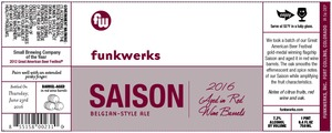 Funkwerks, Inc. Saison Aged In Red Wine Barrels
