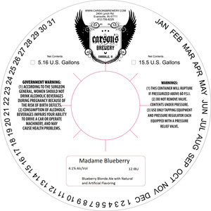 Carson's Brewery Madame Blueberry