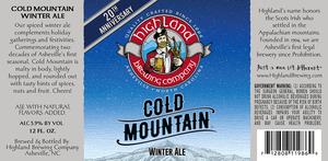 Highland Brewing Co. Cold Mountain Winter Ale