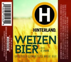 Hinterland Weizen Bier July 2016