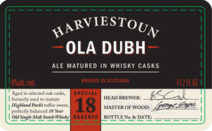 Harviestoun Ola Dubh Special 18 Reserve