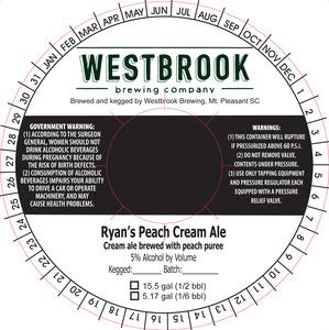 Westbrook Brewing Company Ryan's Peach Cream Ale