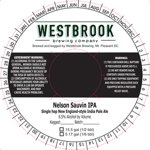 Westbrook Brewing Company Nelson Sauvin IPA