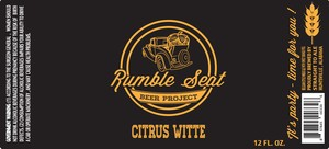 Rumble Seat Beer Project Citrus Witte