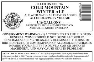 Highland Brewing Co. Cold Mountain