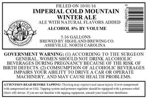Highland Brewing Co. Imperial Cold Mountain