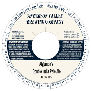 Anderson Valley Brewing Company Algernon's Double IPA