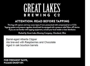 The Great Lakes Brewing Co. Barrel-aged Alberta Clipper