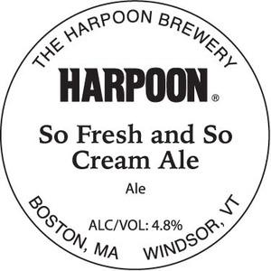 Harpoon So Fresh And So Cream