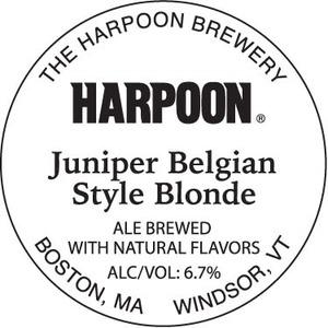 Harpoon Juniper Belgian Blonde