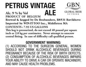 Petrus Vintage Ale