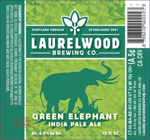Laurelwood Brewing Co. Green Elephant