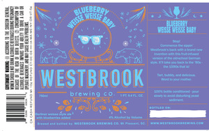 Westbrook Brewing Company Blueberry Weisse Weisse Baby