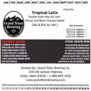 Grand Teton Brewing Tropical Loco