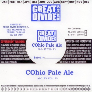 Great Divide Brewing Company Cohio Pale Ale