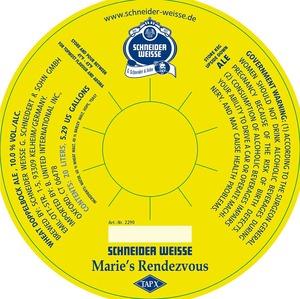 Schneider Weisse Marie's Rendezvous