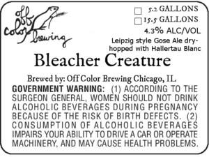 Off Color Brewing Bleacher Creature