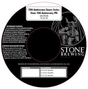 20th Anniversary Encore Series Stone 10th Anniversary IPA
