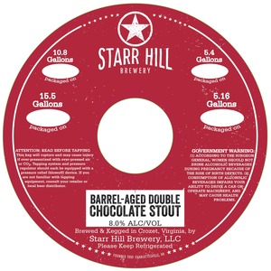 Starr Hill Barrel Aged Double Chocolate Stout