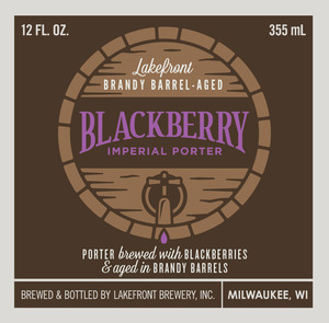 Lakefront Brewery Brandy-barrel Aged Blackberry