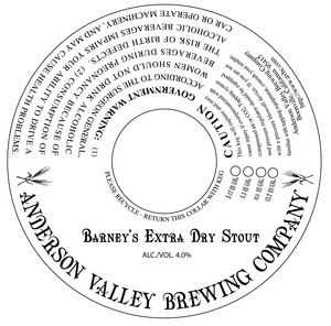 Anderson Valley Brewing Company Barney's Extra Dry Stout