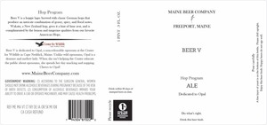 Maine Beer Company Beer V