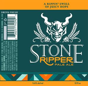 Stone Ripper Pale Ale July 2016
