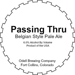 Odell Brewing Company Passing Thru