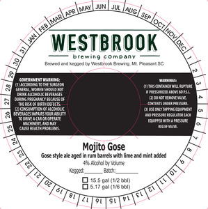 Westbrook Brewing Company Mojito Gose August 2016
