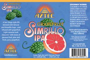 Aztec Brewing Company Grapefruit Simrillo IPA