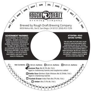 Rough Draft Brewing Company Summer Rye