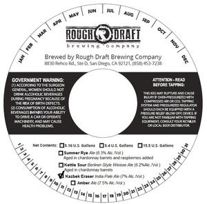 Rough Draft Brewing Company Kazbek Eraser