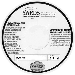 Yards Brewing Company Stynk Ale