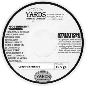 Yards Brewing Company Coopers IPAtch Ale