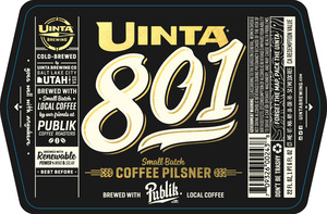 Uinta Brewing Co 801 Coffee