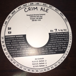 Saugatuck Brewing Company Crim August 2016