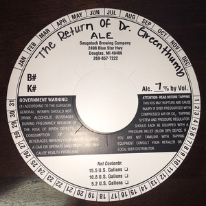 Saugatuck Brewing Company The Return Of Dr. Greenthumb