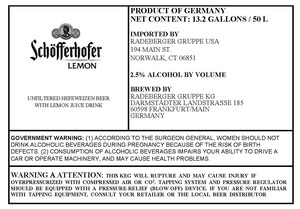 Schofferhofer Lemon