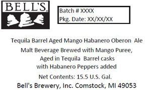 Bell's Tequila Barrel Aged Mangohabanero Oberon