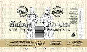 Australian Brewery Saison D Heretique