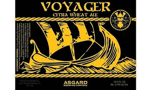 Asgard Brewing Company Voyager Citra Wheat Ale
