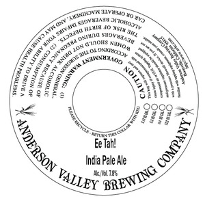 Anderson Valley Brewing Company Ee Tah!