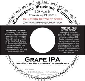 Conyngham Brewing Company Grape IPA