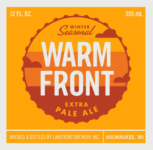 Lakefront Brewery Warm Front Extra Pale