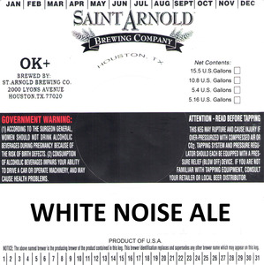 Saint Arnold Brewing Company White Noise